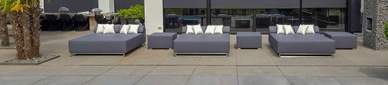 square outdoor daybed
